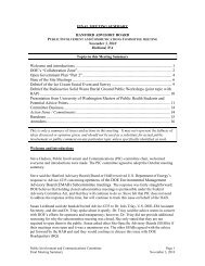 Public Involvement and Communication Committee ... - Hanford Site