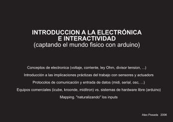 INTRODUCCION A LA ELECTRÓNICA E INTERACTIVIDAD - Hangar
