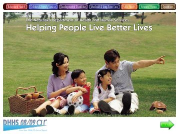Helping People Live Better Lives - Nebraska Department of Health ...