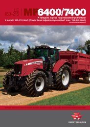 MF 6400/7400 traktor prospektus SISU motor 160 - Hanki-Ker Kft.