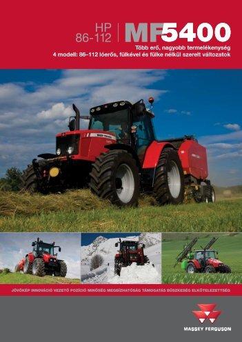 MF 5400 traktor prospektus 86 - 112 LE - Hanki-Ker Kft.