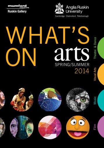 Anglia Ruskin Arts brochure Spring/Summer 2014