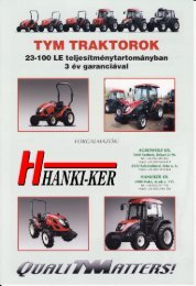 TYM traktor prospektus - Hanki-Ker Kft.