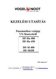 MasterDrill DF-Ha / M és Drillmat III Kezelési útmutató - Hanki-Ker Kft.