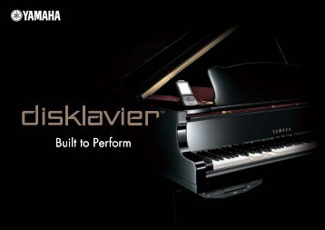 Built to Perform - Pianos Hanlet