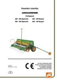 Amazone D9 vetőgép kezelési útmutató - Hanki-Ker Kft.