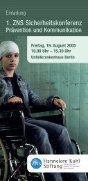 Programm - Hannelore Kohl Stiftung