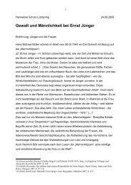 Gewalt und Männlichkeit bei Ernst Jünger - Hannelore Scholz ...