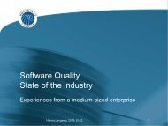 Software Quality State of the industry - Hanno Langweg