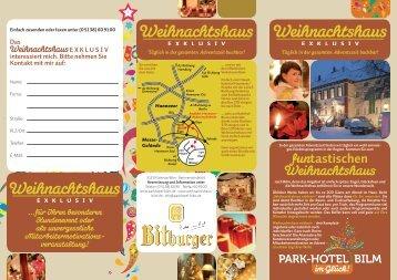 Weihnachtshaus exklusiv (PDF) - Hannover Locations