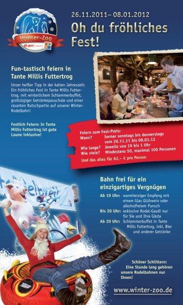 Fun-tastisch feiern in Tante Millis Futtertrog - Hannover Locations
