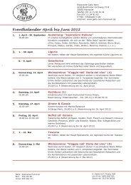 Eventkalender April bis Juni 2012 - Hannover Locations
