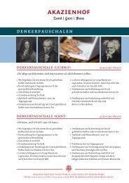 Tagungspauschalen (PDF) - Hannover Locations