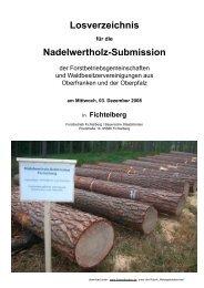 Losverzeichnis Nadelwertholz-Submission - Bayerische Staatsforsten