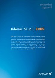 Informe Anual 2005 - Hannover Re