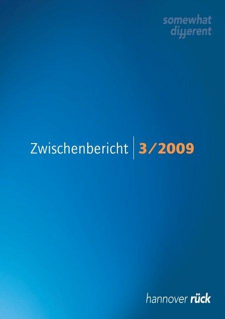 Zwischenbericht 3/2009 - Hannover Re