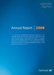 Annual Report 2008 - Hannover Re