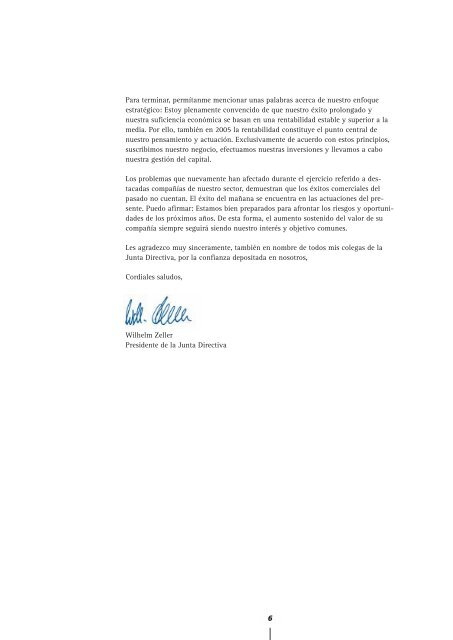 Informe Anual 2004 - Hannover Re