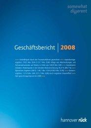 Geschäftsbericht 2008 - Hannover Rück