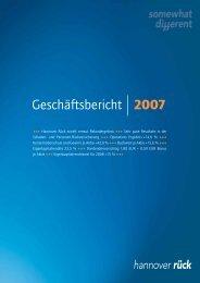 Geschäftsbericht 2007 - Hannover Rück