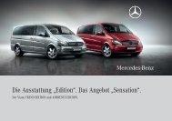 """Die Ausstattung """"Edition"""". - Mercedes-Benz Niederlassung Hannover"""