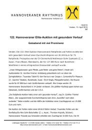 HANNOVERANER RHYTHMUS - Hannoveraner Verband