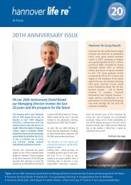 20th anniversary issue - Hannover Re UK Life Branch