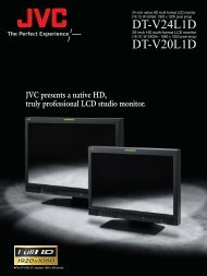 JVC DT-V24L1D CCTV monitors product datasheet - SourceSecurity ...