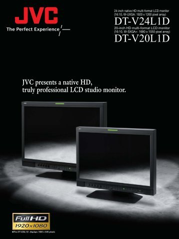 JVC DT-V24L1D CCTV monitors product datasheet - SourceSecurity ...
