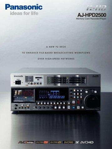 AJ-HPD2500 - Panasonic