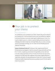 Lawyers Professional Liability Customer Brochure ? Preferred