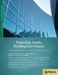 Protecting Assets. Building Your Future. - The Hanover Insurance ...