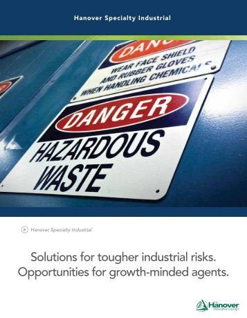 Hanover Specialty Industrial Capabilities Agent - The Hanover ...