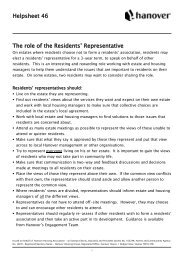 Helpsheet 46 The role of the Residents' Representative - Hanover