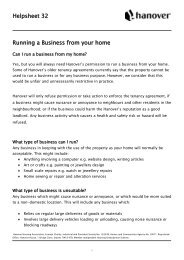 Helpsheet 32 Running a Business from your home - Hanover