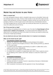 Helpsheet 41 Master key and Access to your Home - Hanover