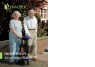 HANOVER HELPS Annual Review 2006/07
