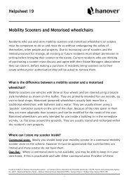 Helpsheet 19 Mobility Scooters and Motorised wheelchairs - Hanover