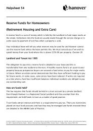 Helpsheet 54 Reserve Funds for Homeowners ... - Hanover