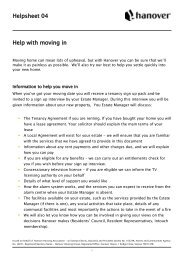 Helpsheet 04 Help with moving in - Hanover