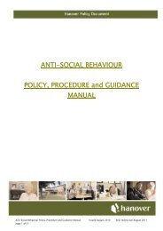 ANTI-SOCIAL BEHAVIOUR POLICY, PROCEDURE and ... - Hanover