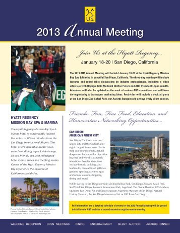 2013 AHS Annual Meeting Registration Form - the American ...