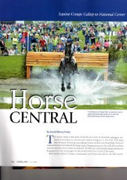 Equine Groups Gallop to National Center - the American ...