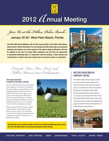 2012 AHS Annual Meeting Registration Form - the American ...