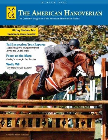 Winter 2012/13 - the American Hanoverian Society!