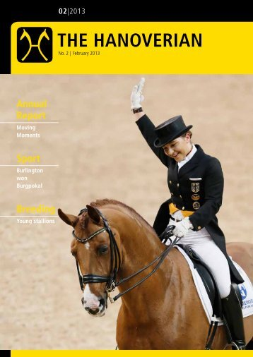 The Hanoverian 02|2013 - the American Hanoverian Society!