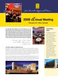 Join Us at the Peppermill Reno.... - the American Hanoverian Society!