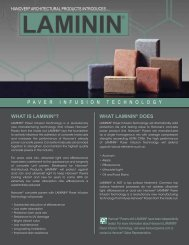 5815 - LAMININ™ Flyer - Hanover® Architectural Products