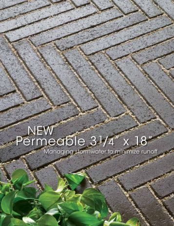 """Permeable 3 1/4"""" x 18"""" Flyer - Hanover® Architectural Products"""