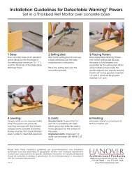 Installation Guidelines for Detectable Warning® Pavers